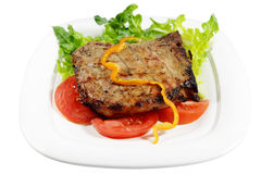 kotlecik piec na grillu wieprzowina Zdjęcie Royalty Free