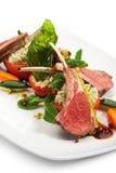 kotleciki lamb warzywa zdjęcie stock