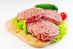 Kotlett för en hamburgare royaltyfria foton