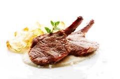 kotlett grillad lamb arkivfoto