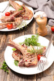 kotlett grillad lamb Royaltyfri Fotografi