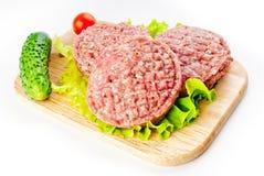 Kotletter för en hamburgare Royaltyfri Bild