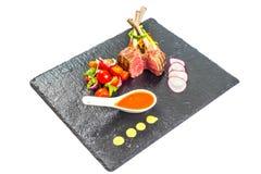 kotletter lamb grillat Royaltyfria Bilder