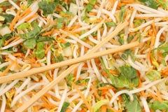 kotlettsmåfisksticks rör grönsaker Royaltyfri Fotografi