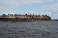 Kotlin fort. Military fort in sea near Kotlin Royalty Free Stock Photo