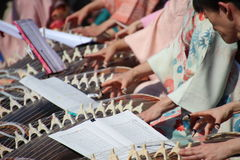 Koto players royalty free stock images