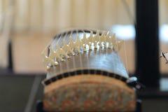traditional guzheng musical instrument stock photo