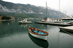 Kotor海湾 库存照片