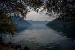 kotor Μαυροβούνιο κόλπων Στοκ Φωτογραφίες