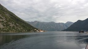 kotor Μαυροβούνιο κόλπων Στοκ εικόνα με δικαίωμα ελεύθερης χρήσης