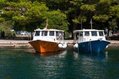 Kotor μια ιστορικά πόλη και ένα λιμάνι στοκ εικόνες