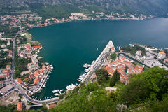 Kotor from above Stock Photography