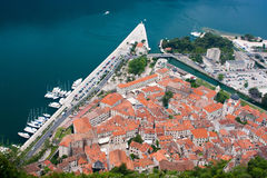 Kotor from above royalty free stock image