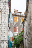 Kotor Alley with Shutters Stock Image