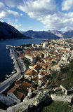 Kotor bay stock images