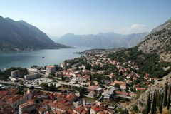 Kotor bay. In Montenegro (Europe Royalty Free Stock Photo