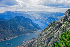 Kotor Bay on Adriatic Sea Royalty Free Stock Images