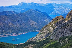 Kotor Bay on Adriatic Sea Stock Image