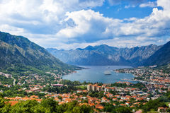 Kotor Bay on Adriatic Sea Royalty Free Stock Photos
