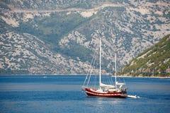 Kotor bay boat , Montenegro. Kotor bay boat in Montenegro stock photos