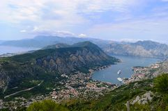 Kotor Bay. Breathtaking view, Kotor-bay in Montenegro. Best Place to visit in 2016 Stock Images