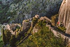 Free Kotor Bay Fortress View Royalty Free Stock Image - 97329316
