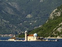 Kotor bay islands Stock Photos