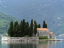 Kotor Bay Islands Royalty Free Stock Image