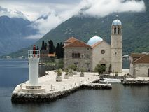 Kotor bay islands Stock Images