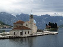 Kotor bay islands Stock Image