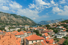 Kotor Bay, Kotor. Montenegro. View on the roofs of Kotor Royalty Free Stock Photography
