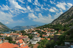 Kotor Bay, Kotor. Montenegro. View on the roofs of Kotor Stock Images