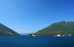Kotor bay in Montenegro. Adriatic sea Royalty Free Stock Images