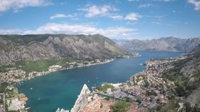 Kotor bay Montenegro beautiful panorama