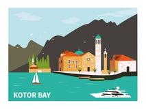 Kotor bay in Montenegro. Stock Photography