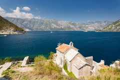 Kotor bay, Montenegro. Sunny day stock images