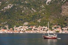 Kotor bay, Montenegro. Kotor bay view in Montenegro royalty free stock photography