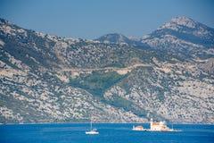 Kotor bay, Montenegro. Kotor bay view in Montenegro royalty free stock photo