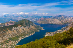 Kotor Bay - Montenegro. Nature and architecture background Stock Image