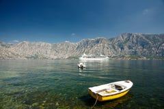 Kotor bay, Montenegro. Kotor bay view in Montenegro stock image