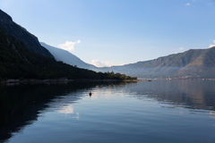 Kotor bay in the morning. View of kotor with morning mist Stock Photo