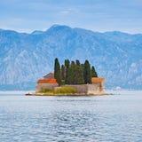 Kotor Bay near Perast town royalty free stock photos