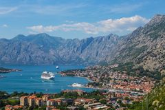 Kotor bay. Old city, middle ages, Montenegro Royalty Free Stock Photos