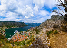 Kotor Bay and Old Town - Montenegro Royalty Free Stock Image