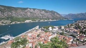 Kotor bay and old town panorama