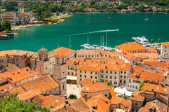 Kotor Bay and Old Town view, Montenegro Stock Photo