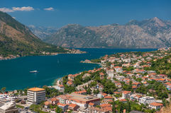 Kotor Bay and Old Town view, Montenegro Stock Image