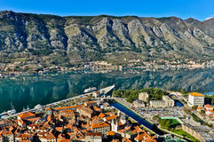 Kotor Bay and Old Town view, Montenegro Stock Images