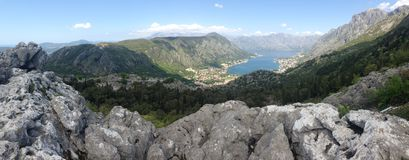 Kotor bay Panorama Royalty Free Stock Image