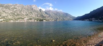 Kotor bay Panorama Stock Images